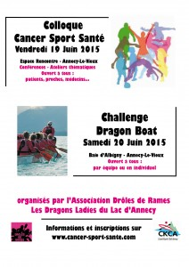 Ccolloque CancerSportSante 2015 annonce